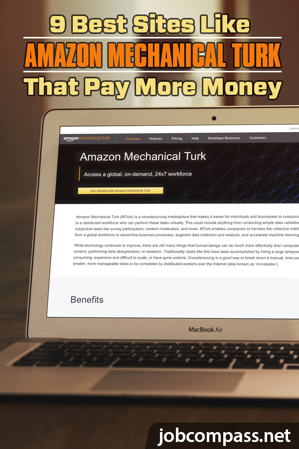 You've heard of Amazon Mechanical Turk, but what if I told you there is sites out there that you can make more than what you do at Mechanical Turk? Check out these 9 microsites.