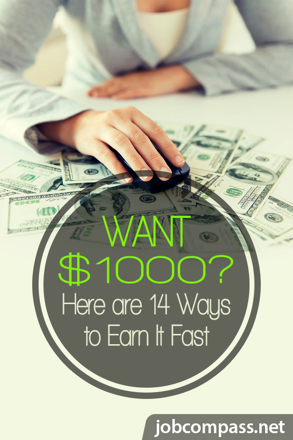 Do you think it's impossible to make a hefty sum of money, quickly? It's not! Here's how to make $1000 fast! Combine all of these ideas to reach your goal.
